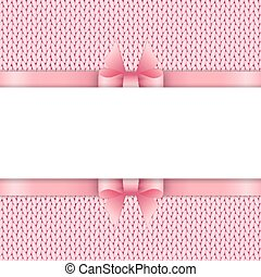 Knitted background with space for text