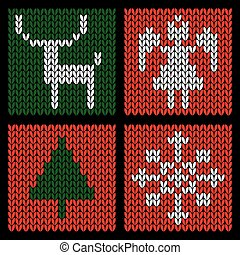 Knitted Christmas Set
