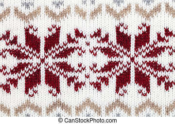 Knitted fabric cloth ornament - Real knitted fabric textured...