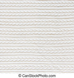 knitted fabric of white color.