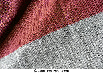 Knitted fabric texture close up. Textile background
