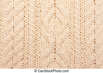 Knitted fabrics, pattern on light woolly fabrics