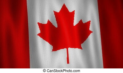 Knitted Flag of Canada. - Beautiful animation of knitted...