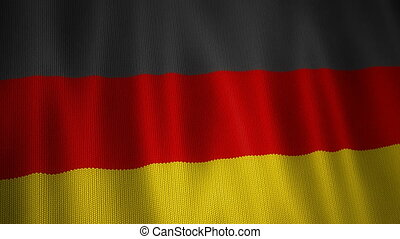 Knitted Flag of German.