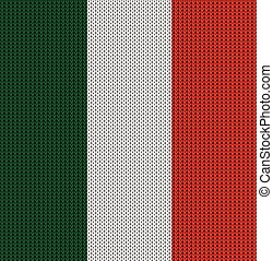 Knitted flag of Italy