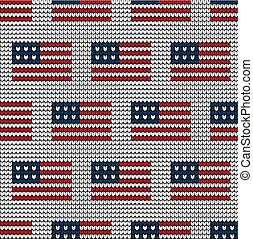 Knitted flag of the USA icon
