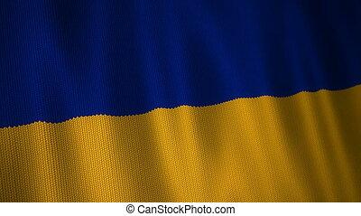 Knitted Flag of Ukraine.
