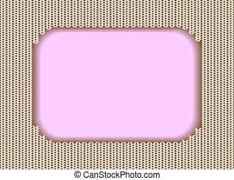 Knitted frame