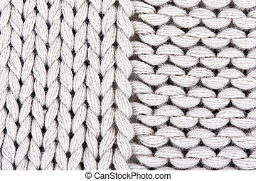 knitted gray background closeup.