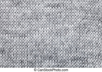 Knitted melange textile pattern - Real grey knitted fabric...