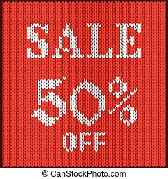 knitted number fifty percent sale