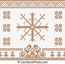 knitted pattern with snowflake