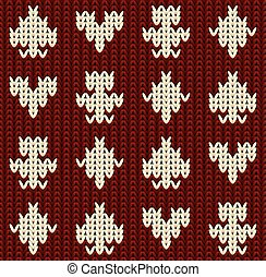 Knitted poker casino seamless pattern, vector illustration