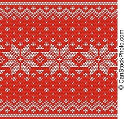 Knitted scandinavian texture. Knit Christmas seamless pattern. Vector.