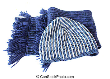 Knitted scarf and cap