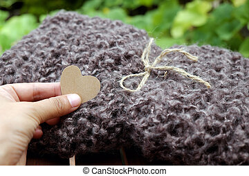 knitted scarf, gift for Christmas season