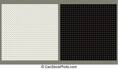 Knitted seamless background, vector illustration