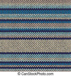 Knitted Seamless Color Striped Pattern