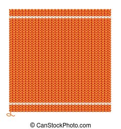 Knitted Seamless Orange Background. Vector