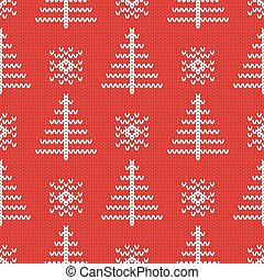 Knitted seamless pattern background.