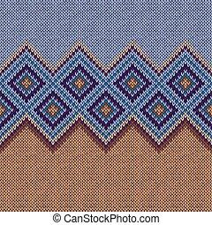 Knitted seamless pattern. Classic knitwear ornament. Fashion trendy stylish background.
