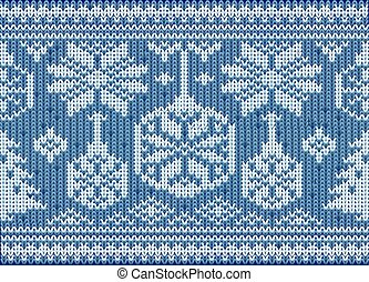 Knitted seamless winter holidays wallpaper, vector illustration
