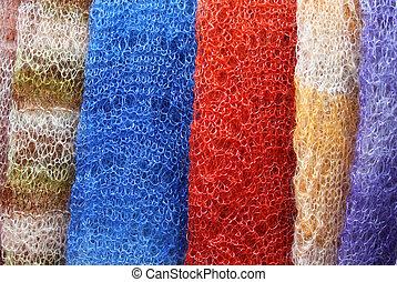 Knitted shawls handmade