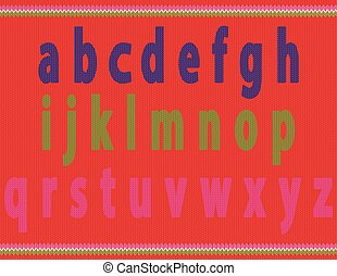 Knitted Small Alphabets