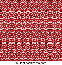 Knitted sweater geometric ornament design. Seamless pattern....