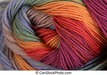 Knitting - Ball of a color wool yarn for needlework
