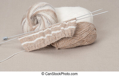 Knitting Craft Kit. Hobby Accessories.