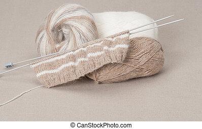 Knitting Craft Kit. Hobby Accessories.