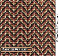 knitting German colors pattern sweater battlement