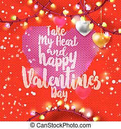 Knitting Happy Valentine card