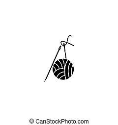 Knitting icon and symbol vector illustration