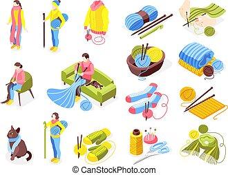 Knitting Icons Set