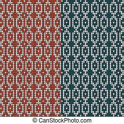 knitting pattern sweater red blue3