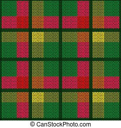 Knitting seamless fabric pattern - Bright wide and narrow...