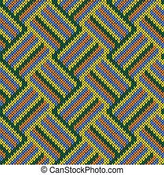 Knitting seamless patchwork pattern
