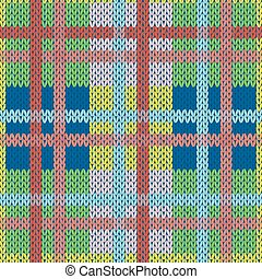 Knitting seamless pattern in various colors - Knitting...