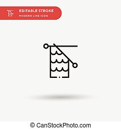 Knitting Simple vector icon. Illustration symbol design template for web mobile UI element. Perfect color modern pictogram on editable stroke. Knitting icons for your business project