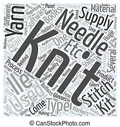 Knitting supplies Word Cloud Concept