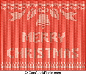 knitting vector, MERRYCHRISTMAS