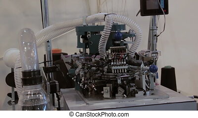 Knitting Weaving Machine in textile industry.