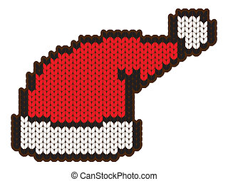knitting wool santa hat