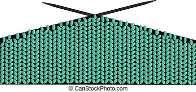 knitting wool vector