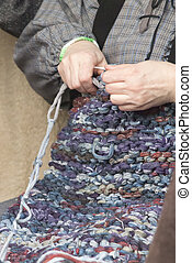 knitting workwoman