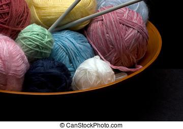 Knitting Yarn In a bowl