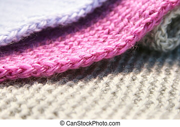 Knitwear - Colorful knitwear as a background.