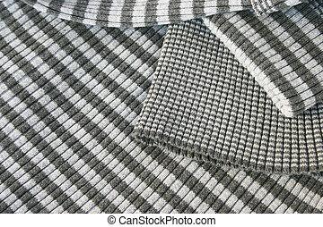 Knitwear - Striped gray knitwear as a background.